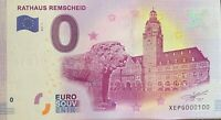 BILLET 0  EURO  RATHAUS REMSCHEID ALLEMAGNE    2017  NUMERO 100