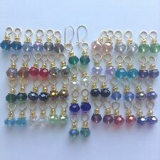 28Pairs Crystal GP Earring Drop,2pcs 12K Gold Filled Interchangeable Kidney Wire
