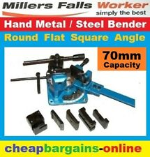 HAND STEEL METAL BENDER TUBE PIPE FLAT SQUARE ROUND ANGLE UB-70 HOT COLD BENCH