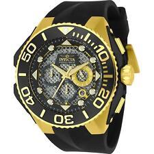 Invicta Coalition Forces Chronograph Gold Tone Black Silicone Men Watch 23961 SD