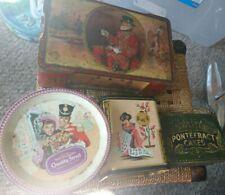 4 x Vintage Biscuit Sweet Tea Tins. Quality Street. Wilkinson Pontefract Cakes