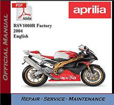 Aprilia RSV 1000R Factory   Workshop Repair Service Manual
