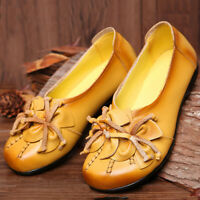 SOCOFY Women Loafers Bohemia Flower Tassel Soft Leather Flat Casual Shoes