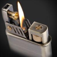 Vintage Cigarette' Kerosene Flint Petrol Gasoline Refillable Lighter Windproof