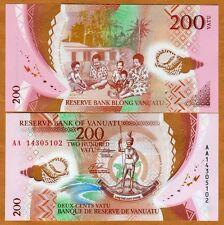 Vanuatu, 200 vatu, 2014, P-NEW, AA-Prefix, POLYMER, UNC