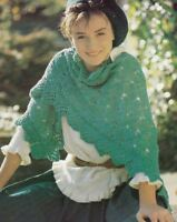 Knitting Pattern Lacy Shawl Scarf Accessory  - Easy To Knit