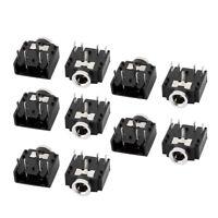 10Pcs 3.5mm Female Stereo Audio Socket Headphone Jack Connector 5 Pin PCB Mount
