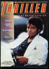 1982 Michael Jackson photo Thriller album release music trade ad