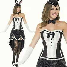 Burlesque Bunny fancy dress costume Dancer corset Womens Outfit