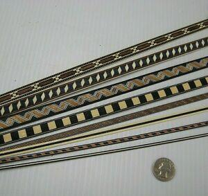 Sample Pack! Veneer Inlay Banding, Various Styles, VENEER WOODWORKING REQUIRED