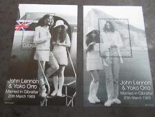 GIBRALTAR 1999 30th Annv John & Yoko Mini sheets SG 880 mnh