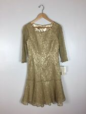 Gold Evan Picone Dress, NWT,  Size 6