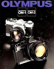 OLYMPUS OM-1 & OM-2 SLR 35mm CAMERA BROCHURE -OLYMPUS OM1 OM