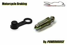 Motorcycle brake caliper 8mm steel bleed screw nipple Kawasaki Suzuki Honda