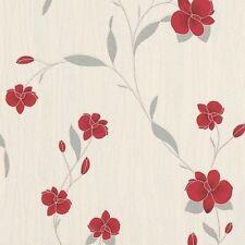 Rollos de papel pintado Erismann color principal rojo