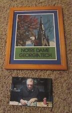 12 X 9 FRAMED RUDY REUTTIGER SIGNED PROGRAM COVER OF 1975 GEORGIA TECH GAME
