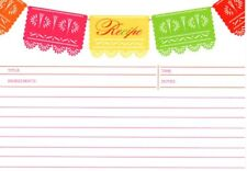 Pink Muy Deliciouso Festive Party Banner Lined Recipe Cards - New In Package