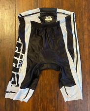 LG Louis Garneau Triathlon Tri Shorts White/Black Large