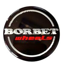 Original Borbet Wheels Nabendeckel Nabenkappe Schwarz Glanz Silber Rot Center Ca