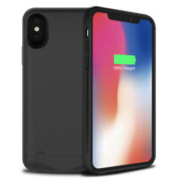 Ultra Slim 5200mAh External Backup Charging Battery Pack Case Cover For iPhone X