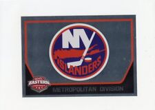 17/18 PANINI NHL STICKER TEAM LOGO #122 NEW YORK ISLANDERS *40481