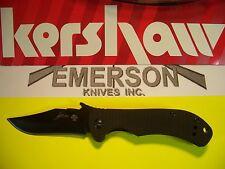 KERSHAW EMERSON - CQC-2K Hinderer frame-lock G-10 knife black wave KAI 6024BLK
