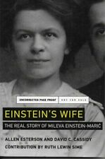 Esterson & Cassidy - Einstein's Wife - UNCORRECTED PROOF - NEW - UK FREEPOST