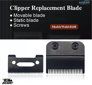 Wahl Magic Clipper Replacement Blade Set 2 Hole Stagger Tooth BLACK Senior Taper