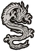 Ecusson patche dorsal dragon blanc grand thermocollant patch transfert