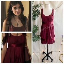 NWT ASO Aria Montgomery Pretty Little Liars Burgundy Red Studded Dress - 6
