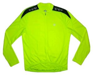 Pearl Izumi Select Series Long Sleeve Cycling Jersey Men's L Screaming Yellow