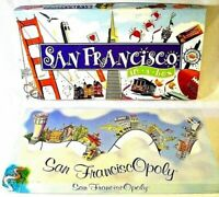 San Francisco in a Box & San Franciscopoly Board Games 2 Game Bundle Complete