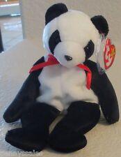 Ty Beanie Baby Fortune Panda Bear 5th Generation Hang Tag  1998 GASPORT ERROR