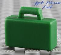 NEW Lego City Minifig GREEN BRIEFCASE -Boy/Girl Minifigure Bag Suit Attache Case