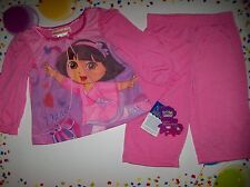 Dora the Explorer Pajamas Sleepwear Infant Baby Girls 2pc Set 12 Mos. Dance NWT