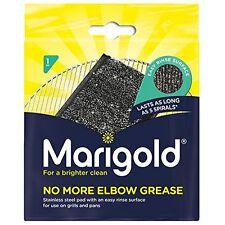 1 x Marigold mai più olio di gomito acciaio inox Spugna Pad DETERSIVO Raschiatore