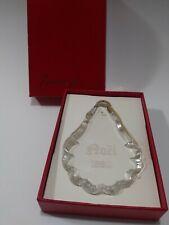 Vintage Baccarat France Crystal Christmas Ornament 1983 Noel
