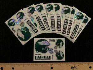 10 count Philadelphia Eagles 5 Piece Prismatic Sticker Sheet - NEW - 2.25 x 3.25