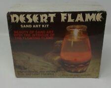 "Vintage Dessert Flame Sand Art Kit 1970's Unused Easy to Do Simply Design 6 7/8"""