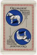 Playing Cards 1 Single Swap Card - Old GEORGES Brewery BRISTOL BEERS White HORSE