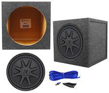 "Kicker 44CVX124 CVX Comp VX 12"" 750w RMS Car Subwoofer+Sealed Sub Enclosure Box"