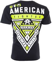 AMERICAN FIGHTER Mens T-Shirt CAMERON WEATHERED Athletic BLACK Biker Gym $40