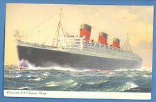 "SHIP ""QUEEN MARY"" VINTAGE PC.USED 1955s 3962"