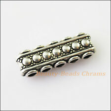 8 5-5holes Bars Connectors Charms Tibetan Silver Tone Spacer Beads 8.5x23mm