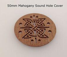 Cigar Box Guitar Sound Hole Covers Mahogany 50mm