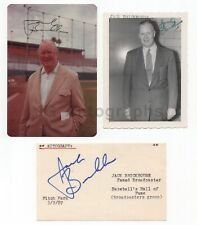 Jack Brickhouse - Hall of Fame Chicago Cubs Sportscaster - Lot of 3 Signed Items