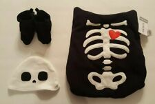 Carters Baby Halloween Skeleton Carrier Costume One Size Black White 3 Pc New