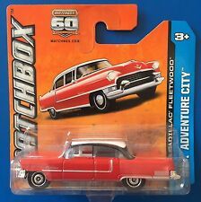 2013 Matchbox RED & WHITE 1955 CADILLAC FLEETWOOD mint on short card!