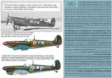 8 inch RAF and RAAF serial numbers and letters, BLACK (V4851)