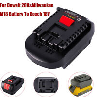 1X Adapter For Dewalt 20V&Milwaukee M18 Battery Convert To Bosch 18V Li-Ion Tool